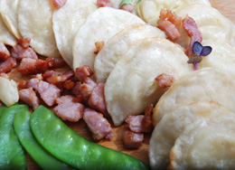 Polish dumplings with meat and vegetables